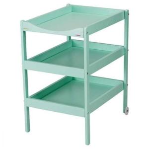 Combelle Table à Langer 3 Plateaux Susie - laqué vert mint