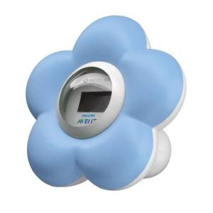 PHILIPS AVENT Thermomètre Bain + chambre Numérique SCH550/20 - Bleu